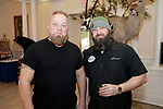 Southington, CT- 24 March 2017-030717CM08- From left, Mike Casanova of Branford and Jerry Pagano Killingworth are photographed during the 25th annual Nutmeg Friends of the NRA dinner at the Aqua Turf in Southington on Friday.     Christopher Massa Republican-American