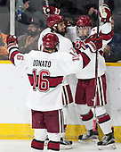 Ryan Donato (Harvard - 16), Alexander Kerfoot (Harvard - 14), Viktor Dombrovskiy (Harvard - 27) - The Harvard University Crimson defeated the Air Force Academy Falcons 3-2 in the NCAA East Regional final on Saturday, March 25, 2017, at the Dunkin' Donuts Center in Providence, Rhode Island.