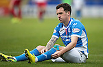 St Johnstone v Kilmarnock&hellip;15.10.16.. McDiarmid Park   SPFL<br />A frustrated Danny Swanson<br />Picture by Graeme Hart.<br />Copyright Perthshire Picture Agency<br />Tel: 01738 623350  Mobile: 07990 594431