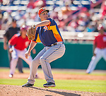 5 March 2013: Houston Astros pitcher Brad Peacock on the mound during a Spring Training game against the Washington Nationals at Space Coast Stadium in Viera, Florida. The Nationals defeated the Astros 7-1 in Grapefruit League play. Mandatory Credit: Ed Wolfstein Photo *** RAW (NEF) Image File Available ***