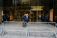 NEW YORK, NY - APRIL 4: Pedestrian walk along 56 street as NYPD officers stand guard Where United States First Lady Melania Trump is living at Trump Tower on April 4, 2017 in Manhattan, New York. Police Commissioner James O'Neill told lawmakers in February it costs the NYPD between $127,000 and $146,000 a day to protect the first lady and her 11-year-old son Barron. When the president is in town, the city pays more than $308,000.  Photo by VIEWpress/Eduardo MunozAlvarez
