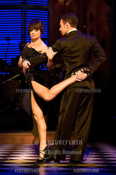 """Flavia Cacace and Vincent Simone at a photocall for their West End Show """"Midnight Tango"""" at the Aldwych Theatre in London. 30/01/2012 Picture by: Simon Burchell / Featureflash"""