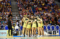 Action from the ANZ Championship - Mojo Pulse v Queensland Firebirds at Te Rauparaha Arena, Porirua, New Zealand on Sunday 8 March 2015. <br /> Photo by Masanori Udagawa. <br /> www.photowellington.photoshelter.com.