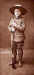 Boy with uniform and rifle &quot;Young Canada, 1903&quot;