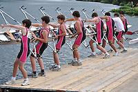 Thames Valley Park Regatta, Reading, Berkshire. 19.06.2011.J14 8X+.74 Abingdon School B.C.   A.Boating pontoon