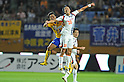 Shingo Akamine (Vegalta),  Kim Young-Gwon (Ardija),JULY 23, 2011 - Football / Soccer :2011 J.League Division 1 match between Vegalta Sendai 0-1 Omiya Ardija at Yurtec Stadium Sendai in Miyagi, Japan. (Photo by AFLO)