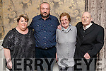 Caitriona and Ger Foley with Pat and Tom Foley, pictured at the Kerins Park 50th anniversary social held at The Rose Hotel, Tralee, on Saturday night last.