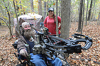 NWA Democrat-Gazette/FLIP PUTTHOFF <br /> Deer hunting is a team effort     Oct. 26 2016   for Steve and Jackie Swope. Steve was diagnosed with ALS in 2008.
