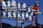 Billboard and figure for Ali Baba's night club at LaBrea and Sunset circa 1979