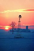 Sunrise at a farm near Kitchener, Ontario.
