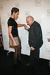 Model Selita Ebanks and Designer Max Azria: New York Mercedes-Benz Fashion Week Spring 2012 - Herve Leger - Backstage New York City, USA - 9/13/11