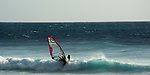 WIndsurfer in Tenerife, Canary Islands.