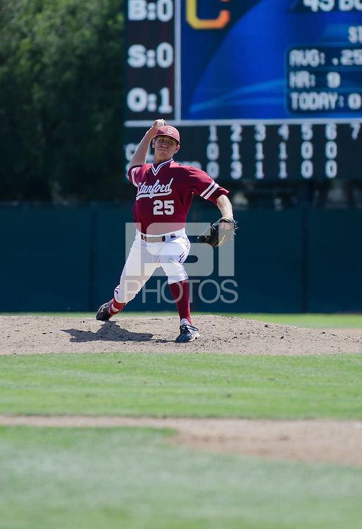 STANFORD, CA - MAY 27, 2012:  Stanford baseball team defeated Cal 5-3 at their final game of the regular season in Stanford, California on May 27th, 2012.