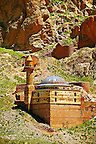 Mosque next to the  the Ishak Pasha Palace (Turkish: İshak Paşa Sarayı) ,  Ağrı province of eastern Turkey..