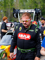 Mar 20, 2016; Gainesville, FL, USA; NHRA top fuel driver Terry McMillen during the Gatornationals at Auto Plus Raceway at Gainesville. Mandatory Credit: Mark J. Rebilas-USA TODAY Sports