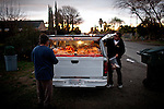 A vendor sells pastries in the Parklawn neighborhood in Modesto, Calif., March 1, 2012.