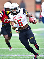 College Park, MD - APR 22, 2016: Maryland Terrapins running back Ty Johnson (6) picks up about 10 yards during the 2017 Spring game at Capital One Field at Maryland Stadium in College Park, MD. (Photo by Phil Peters/Media Images International)