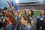 The Ole Miss Choir performs the National Anthem vs. Texas A&M at Vaught-Hemingway Stadium in Oxford, Miss. on Saturday, October 6, 2012. Texas A&M rallied from a 27-17 4th quarter deficit to win 30-27.