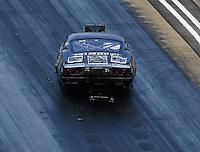 Jun 18, 2016; Bristol, TN, USA; NHRA pro mod driver Mike Knowles during qualifying for the Thunder Valley Nationals at Bristol Dragway. Mandatory Credit: Mark J. Rebilas-USA TODAY Sports