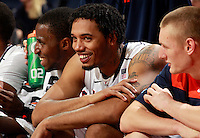 CHARLOTTESVILLE, VA- NOVEMBER 26:  Mike Scott #23 of the Virginia Cavaliers smiles during the game on November 26, 2011 at the John Paul Jones Arena in Charlottesville, Virginia. Virginia defeated Green Bay 68-42. (Photo by Andrew Shurtleff/Getty Images) *** Local Caption *** Mike Scott