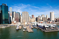 South Street Seaport at Pier 17 on lower east side of Manhattan.