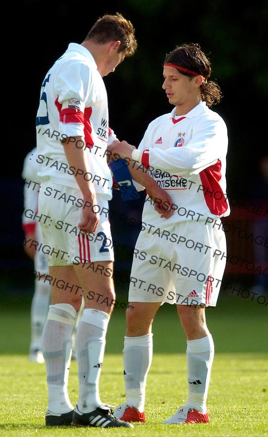 fudbal, sezona 2004/2005.RADNICKI (NBG)-CRVENA ZVEZDA.MARKO PANTELIC & NIKOLA ZIGIC.BGD, 05.07.2005..FOTO: Srdjan Stevanovic/Starsportphoto.com ©