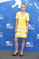 VENICE, ITALY - SEPTEMBER 08: Lily Rose Depp attend a photocall for 'Planetarium' during the 73rd Venice Film Festival at Palazzo del Casino on September 8, 2016 in Venice, Italy.<br /> CAP/GOL<br /> &copy;GOL/Capital Pictures /MediaPunch ***NORTH AND SOUTH AMERICAS ONLY***