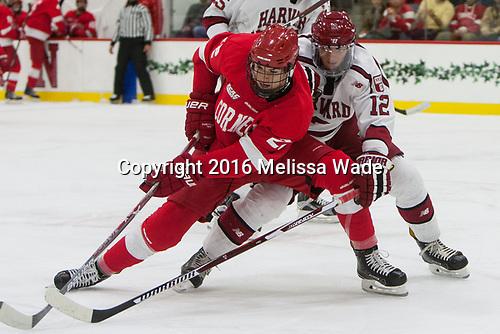 Jeff Malott (Cornell - 22), John Marino (Harvard - 12) - The Harvard University Crimson defeated the visiting Cornell University Big Red on Saturday, November 5, 2016, at the Bright-Landry Hockey Center in Boston, Massachusetts.