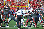 Ole Miss kicker Bryson Rose (81) makes a field goal vs. Arkansas at War Memorial Stadium in Little Rock, Ark. on Saturday, October 27, 2012. Ole Miss won 30-27...