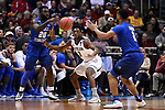 MILWAUKEE, WI - MARCH 18: Butler Bulldogs guard Kamar Baldwin (3) looks to intercept a Middle Tennessee Blue Raiders pass during the second half of the 2017 NCAA Men's Basketball Tournament held at BMO Harris Bradley Center on March 18, 2017 in Milwaukee, Wisconsin. (Photo by Jamie Schwaberow/NCAA Photos via Getty Images)