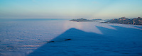 Bocken Spectre and mountain shadows on inversion layer fog, from summit of Breitenberg, Allg&auml;u, Germany