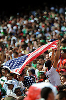 United States (USA) fan. Mexico (MEX) defeated the United States (USA) 5-0 during the finals of the CONCACAF Gold Cup at Giants Stadium in East Rutherford, NJ, on July 26, 2009.