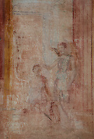 Wall painting in the Macellum, Pompeii, 2nd century BC. The covered food market, is North East of the Forum