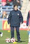 27 November 2010: U.S. assistant coach Hege Riise (NOR). The United States Women's National Team defeated the Italy Women's National Team 1-0 in the second leg of their 2011 FIFA Women's World Cup Qualifier playoff at Toyota Park in Bridgeview, Illinois. The U.S. won the series 2-0 on aggregate goals to advance.