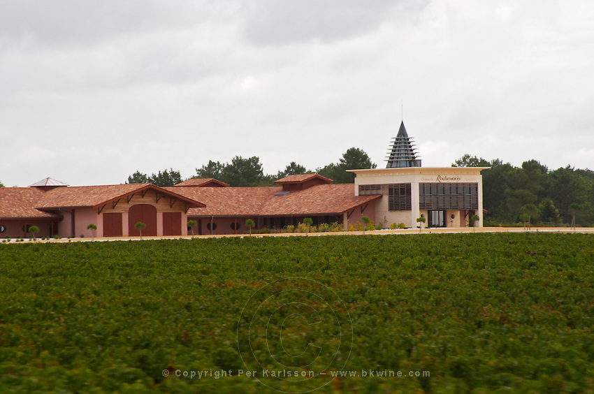 Vineyard. And winery, Chateau Rochemorin. Graves, Pessac Leognan Bordeaux France