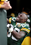 Green Bay Packers' Donald Driver smiles at the fans as he walks off the field after the Packers beat the Panthers 31-17. . The Green Bay Packers hosted the Carolina Panthers at Lambeau Field Sunday November 18, 2007. Steve Apps-State Journal.