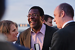 Lenny Henry sees the funny side at a corporate event in London