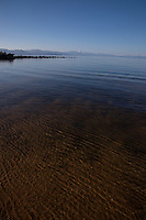 """Kings Beach, Lake Tahoe"" - This shallow sandy beach was photographed at Kings Beach, Lake Tahoe."