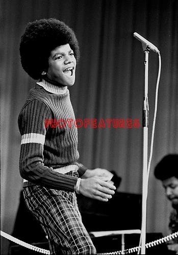 Jackson 5 1972 Michael Jackson at Royal Command Performance at the London Palladium.© Chris Walter.