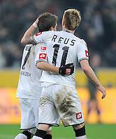 FUSSBALL   1. BUNDESLIGA  SAISON 2011/2012   18.  Spieltag   20.01.2012 Borussia Moenchengladbach   - FC Bayern Muenchen  Patrick Herrmann (li,) mit Marco Reus (Borussia Moenchengladbach)