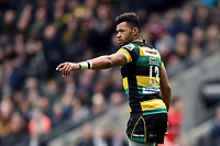 Luther Burrell of Northampton Saints looks on during a break in play. Aviva Premiership match, between Northampton Saints and Saracens on April 16, 2017 at Stadium mk in Milton Keynes, England. Photo by: Patrick Khachfe / JMP