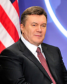 President Viktor Yanukovich of Ukraine meets with United States President Barack Obama (not pictured) on the sidelines of the Nuclear Security Summit at the Washington Convention Center, Monday, April 12, 2010 in Washington, DC. .Credit: Ron Sachs / Pool via CNP