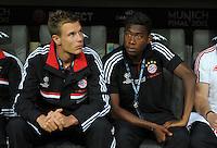 FUSSBALL   SAISON 2011/2012   CHAMPIONS LEAGUE FINALE FC Bayern Muenchen - FC Chelsea  19.05.2012 Holger Badstuber (li) und David Alaba (v.l., beide Bayern)