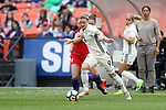 WASHINGTON, DC - MARCH 07: Alexandra Popp (GER) (9) and Jade Moore (ENG) (behind). The England Women's National Team played the Germany Women's National Team as part of the SheBelieves Cup on March 7, 2017, at RFK Stadium in Washington, DC. Germany won the game 1-0.