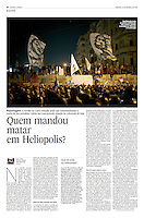 Tearsheet of &quot;Egypt: Murder in Heliopolis&quot; published in Expresso