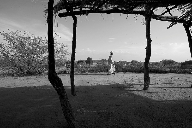 Borzaid, North Darfur, August 23, 2004.An 'Arab' village near Kutum. Many men from this village are said to be Janjaweed.