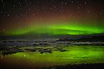 Aurora borealis, Jökulsárlón, Iceland