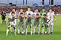 Sanfrecce Hiroshima team group line-up,JULY 3rd, 2011 - Football :Sanfrecce Hiroshima team group (Top row - L to R) Koji Nakajima, David Mujiri, Kohei Morita, Tadanari Lee, Shusaku Nishikawa, Ryota Moriwaki, (Bottom row - L to R) Hisato Sato, Satoru Yamagishi, Mihael Mikic, Kazuyuki Morisaki and Koji Morisaki before the 2011 J.League Division 1 match between Omiya Ardija 0-1 Sanfrecce Hiroshima at NACK5 Stadium Omiya in Saitama, Japan. (Photo by Kenzaburo Matsuoka/AFLO)