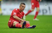 FUSSBALL   1. BUNDESLIGA   SAISON 2011/2012    12. SPIELTAG SV Werder Bremen - 1. FC Koeln                              05.11.2011 Lukas PODOLSKI (Koeln) enttaeuscht am Boden