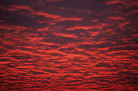 Spectacular red cloud formation at Sunset